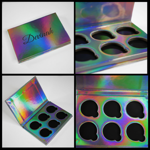 Holographic Iridescent Rainbow 6 pan eyeshadow palette
