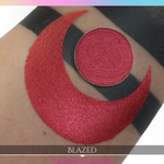 red eyeshadow shimmer