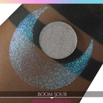 Boom Sour Sugar Drop teal purple blue sparkle eyeshadow