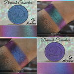 Blue Teal Purple Multichrome Eyeshadow, multi-chrome eye shadow