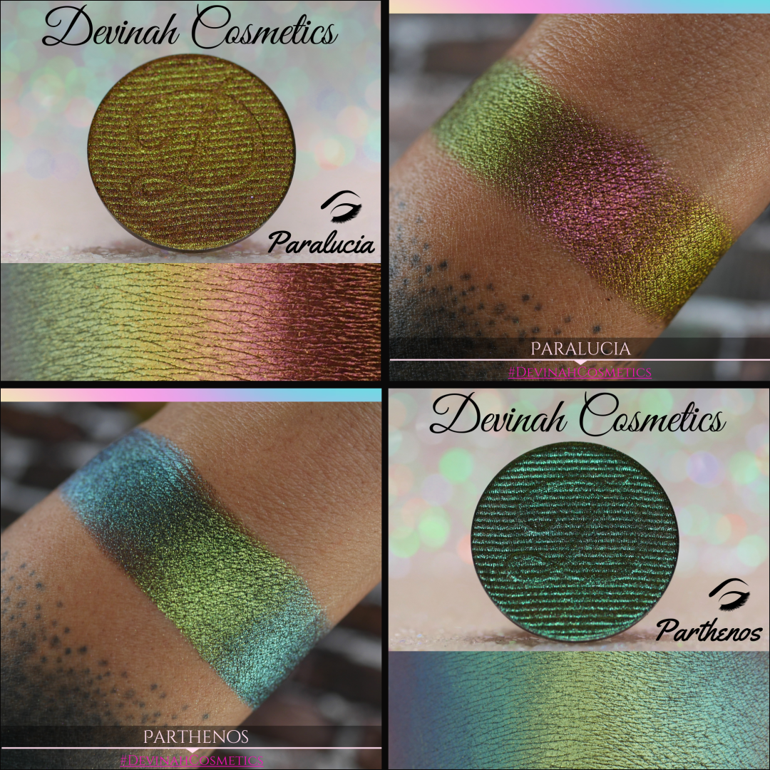 Green Yellow Red Blue Lime Multichrome eyeshadow, multi-chrome eyeshadow