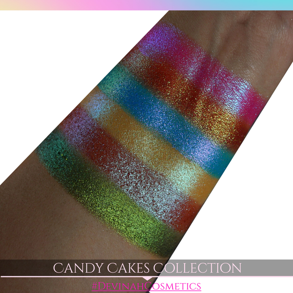 Candy Cakes collection rainbow blossom pancake bubbles sweetie sunbeam creampuff cuddles confettie kisses mystic moonpie set multichrome duochrome trichrome eyeshadows
