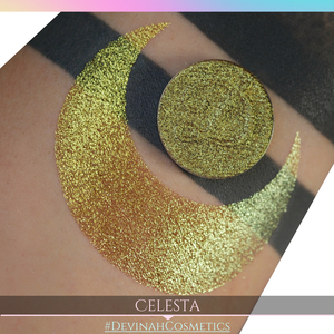 Celesta Glitter Multichrome Duochrome Color Morph Pressed Pigment Eyeshadow
