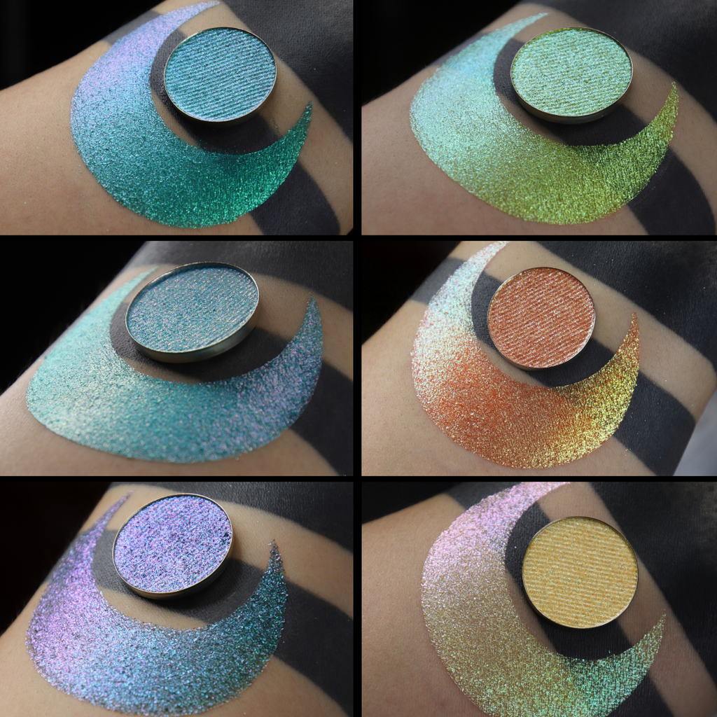 Star Chaser duochrome multichome eyeshadow eye shadow blue teal pink green yellow gold orange