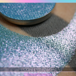 Confetti Kisses duochrome multichrome trichrome blue green pink eyeshadow