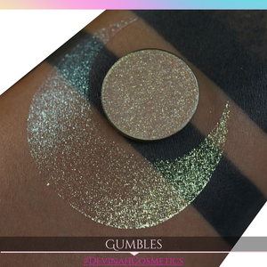 Gumbles Sugar Drops sparkly blue gold green eyeshadow