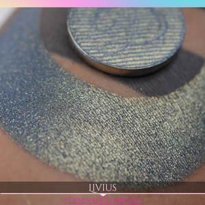 soft blue green with golden fip eyeshadow shimmer