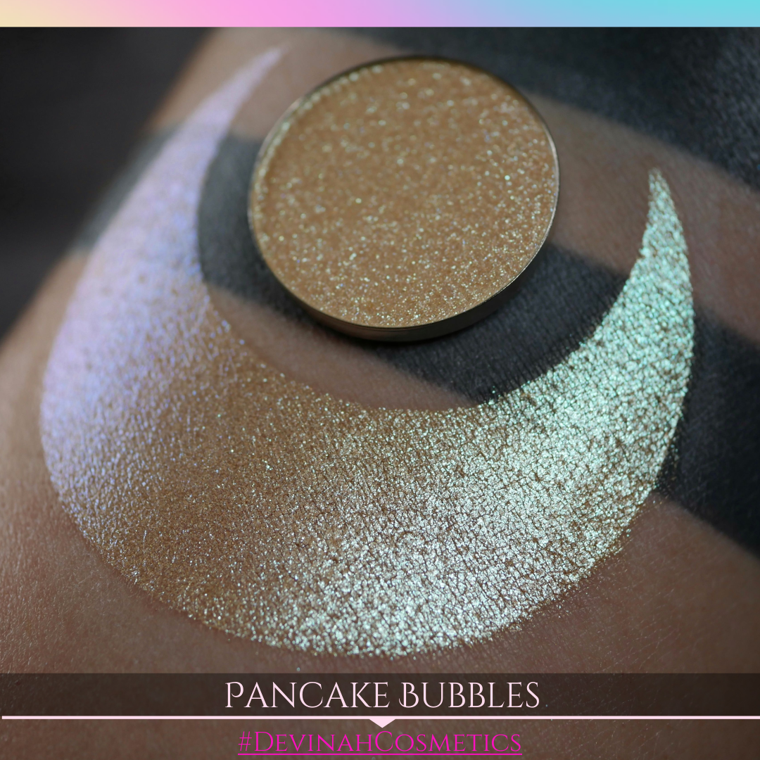 Pancake Bubbles duochrome trichrome pink yellow green aqua shifter multichrome eyeshadow