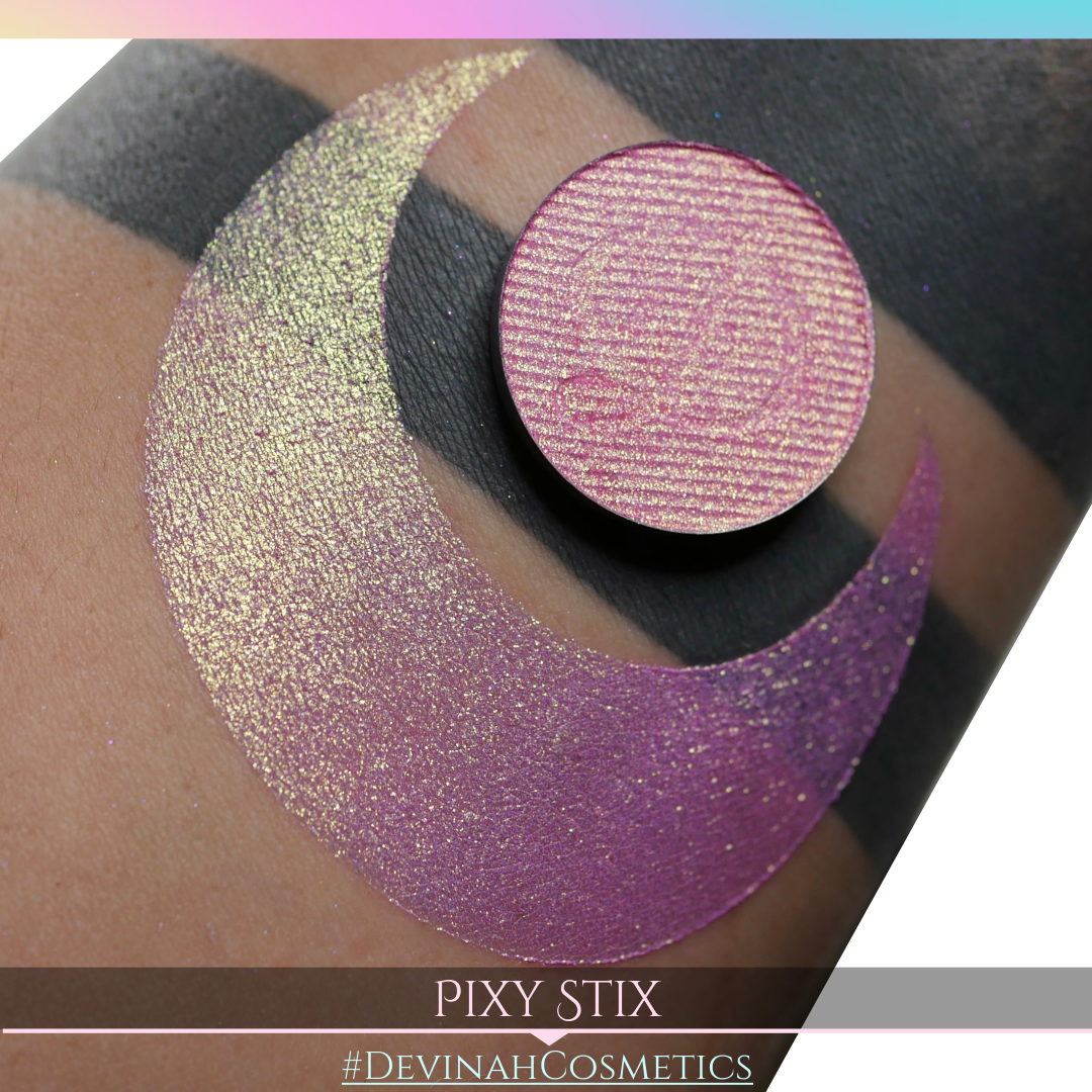 Pixy Stix Glitter Multichrome Duochrome Color Morph Pressed Pigment Eyeshadow
