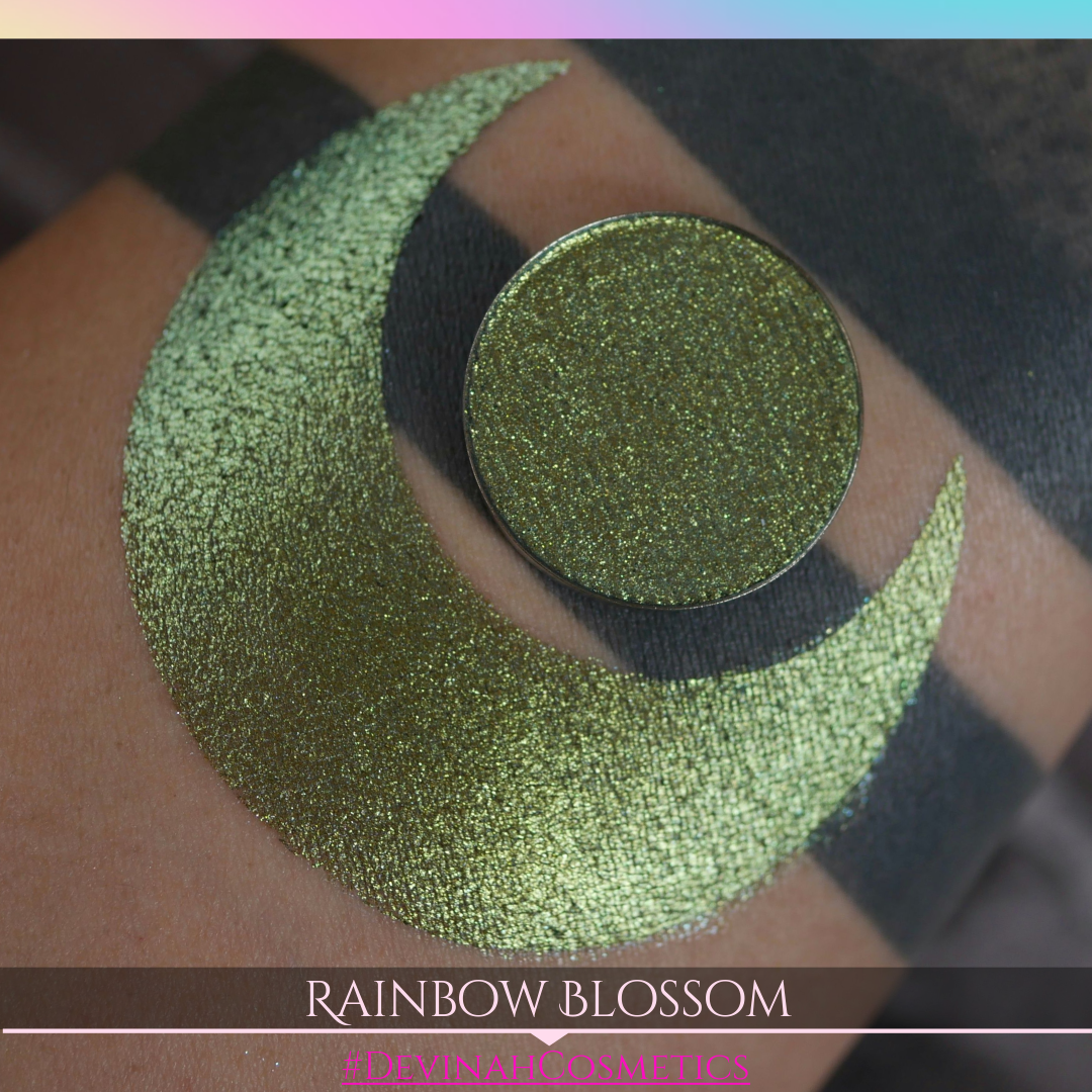 Rainbow Blossom green lime gold blue multichrome trichrome duochrome eyeshadow
