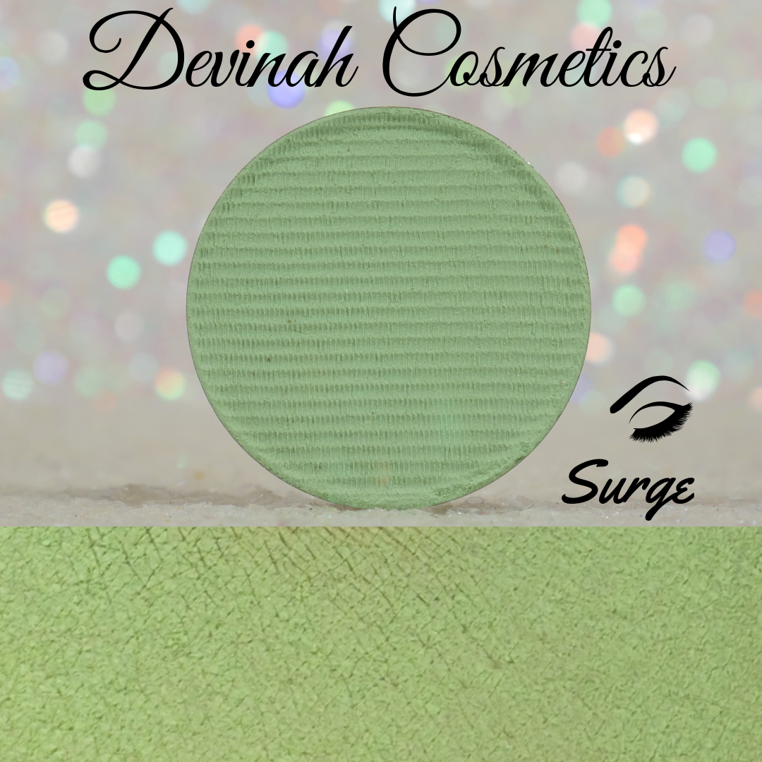 Green yellow neon matte eyeshadow