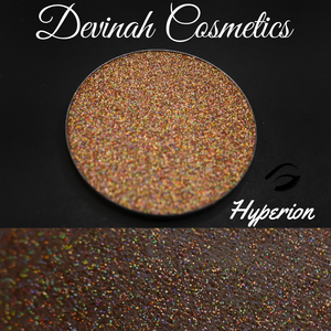 Golden sun holographic pressed glitter