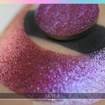 Skyla Glitter Multichrome Duochrome Color Morph Pressed Pigment Eyeshadow