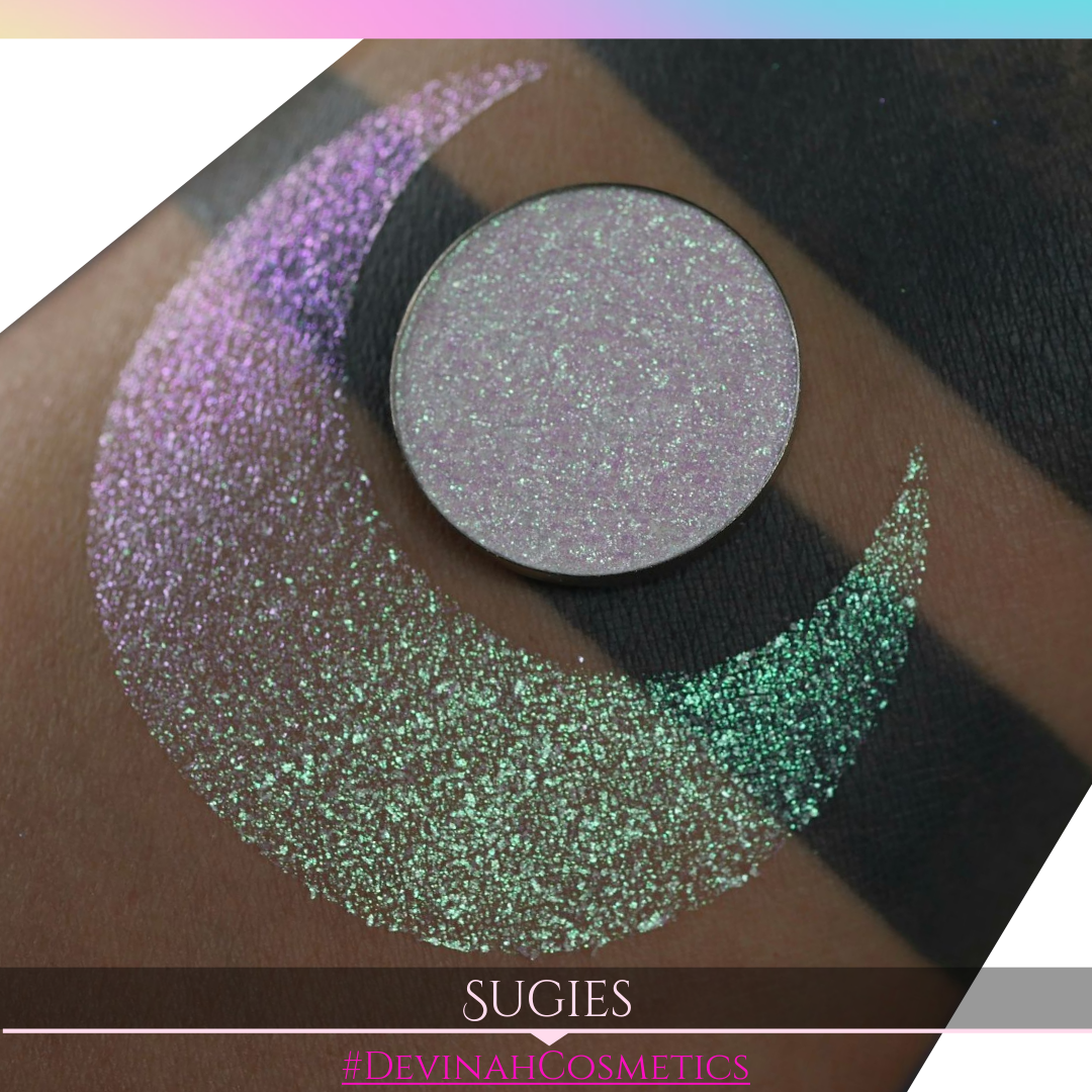 Sugies Sugar Drops sparkly pink green eyeshadow