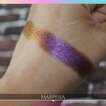 Red magenta golden bronze multichrome eyeshadow