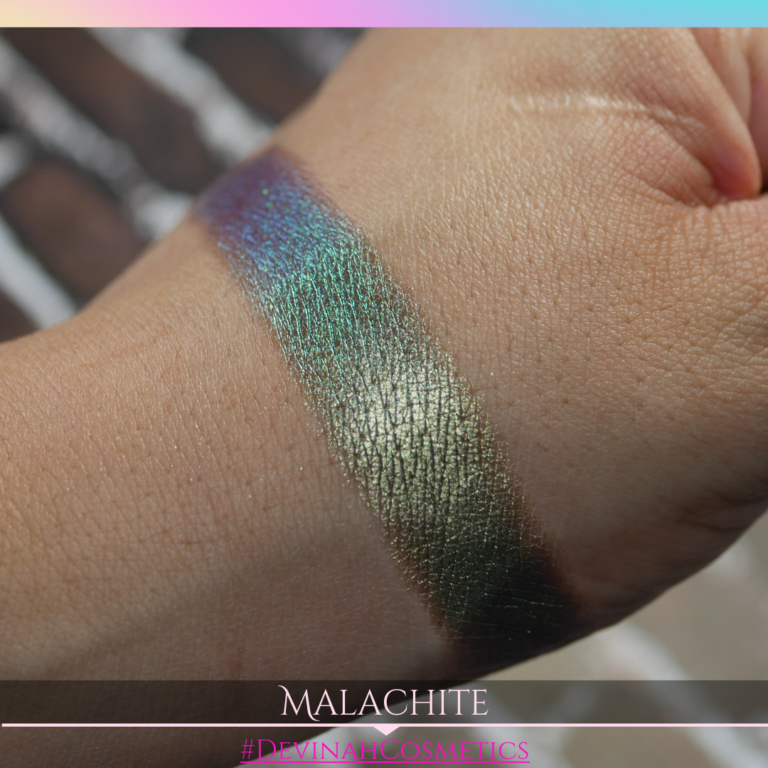 Deep blue green lime multichrome eyeshadow