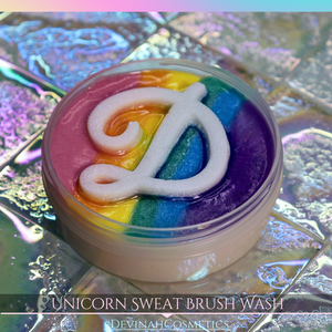 Unicorn Sweat Rainbow Makeup Brush Soap Cleaner