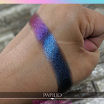 Blue to purple red multichrome eyeshadow