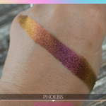 Yellow red golden bronze multichrome eyeshadow