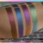 Color morphing multichrome shade shifting eyeshadow