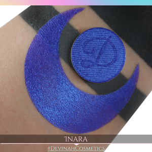 Inara blue purple blurple duochrome shimmer eyeshadow