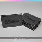 Hard case 24 pan eyeshadow palette for matte and shimmer eyeshadows