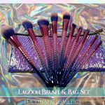 LAGOON 10 Piece Brush Set + Pixie Pouch