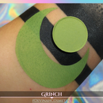True grass green matte eyeshadow