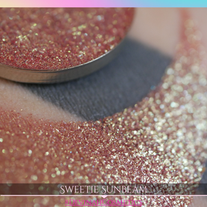 Sweetie Sunbeam duochrome multichrome trichrome red peach gold yellow eyeshadow