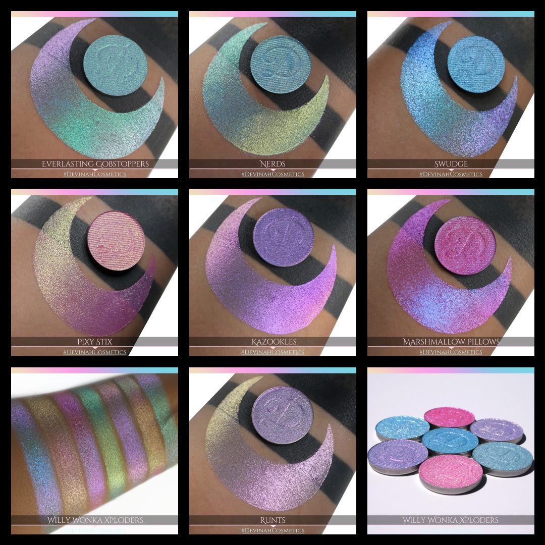 Willy Wonka Inspired Candy Collection Glitter Sparkle Pastel Duochrome Eyeshadow