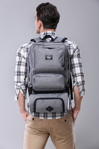 CHOCOLLECTION Bag CHC Lincoln Travel Backpack Charcoal