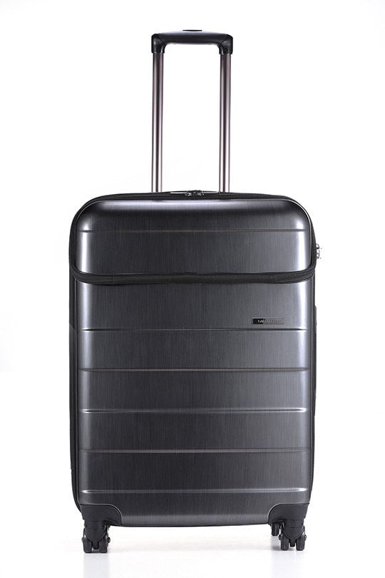 LE MAURICE & CO. LYON Suitcase Medium 68 cm Brushed Charcoal 中型啞光炭絲灰