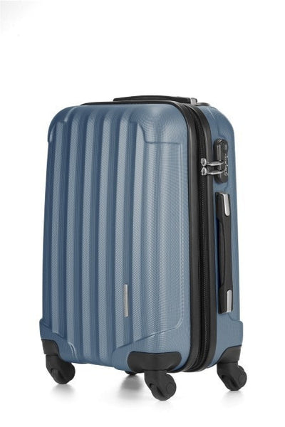 LE MAURICE TRANSFORM EXPANDABLE Suitcase Cabin 55 cm Matte Mercury Blue 手提磨砂銀藍