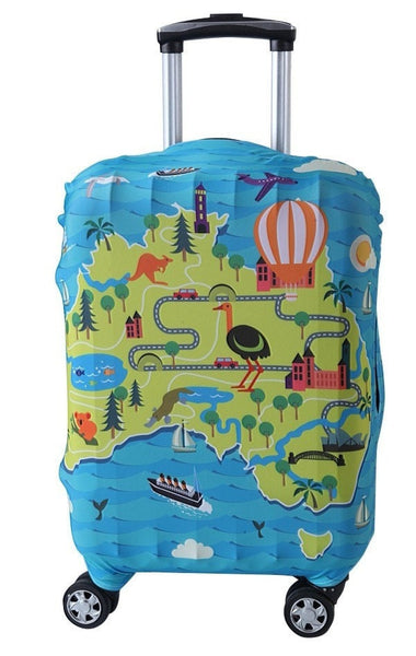 "LM TRAVEL SEASON Goodies 19-22"" Australia Suitcase Cover 澳洲彈力箱套"