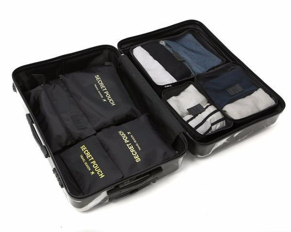 LM TRAVEL SEASON Goodies Black 黑色 7-In-1 Organizer 7合1 防水旅行箱收納袋