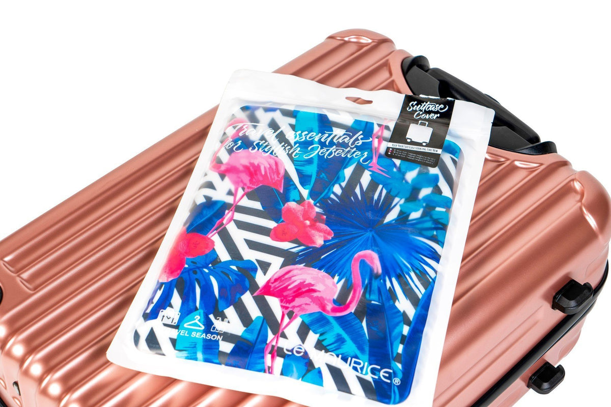 LM TRAVEL SEASON Goodies Flamingo Suitcase Cover