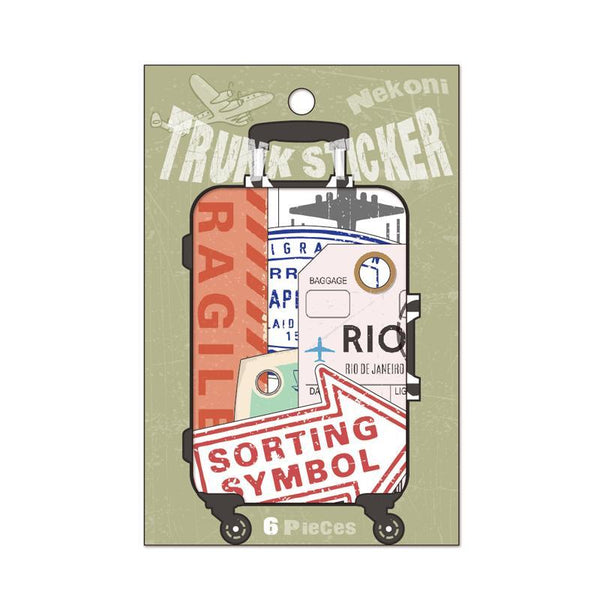 LM TRAVEL SEASON Goodies FRAGILE Suitcase Stickers