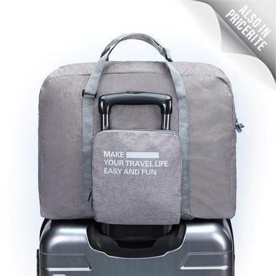 LM TRAVEL SEASON Goodies Grey 灰色 Water Resistance Foldable Duffle 防水可摺疊式旅行袋