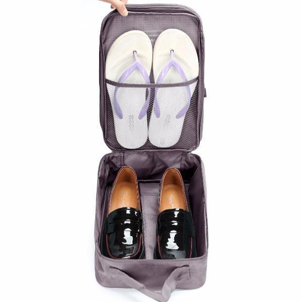 LM TRAVEL SEASON Goodies Grey 淺灰 Water Resistant Shoes Pouch Blue 防水旅行鞋袋淺藍