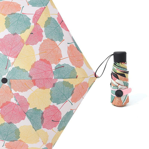 LM TRAVEL SEASON Goodies Leaves Travel Ultralight Umbrella