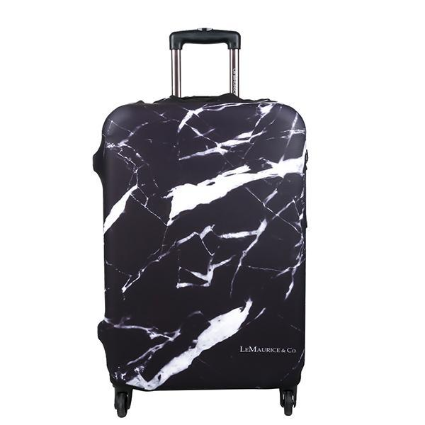 LM TRAVEL SEASON Goodies Marbre Noir Suitcase Cover