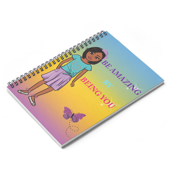 Amazing Brown Girl Spiral Notebook - Ruled Line