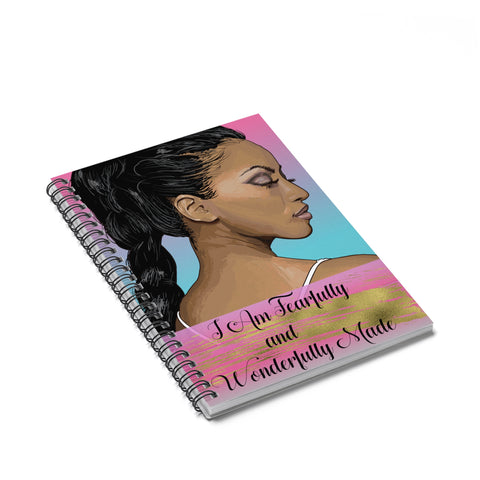 Fearfully and Wonderfully Made Spiral Notebook - Ruled Line