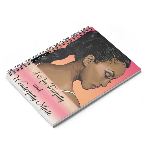 Fearfully and Wonderfully Made -Orange Spiral Notebook - Ruled Line