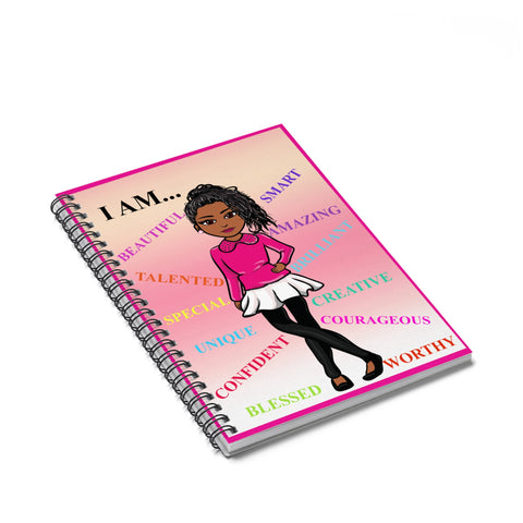 Positive Girl Spiral Notebook - Ruled Line