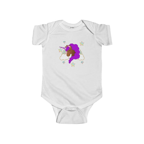 Afro Unicorn Infant Fine Jersey Bodysuit