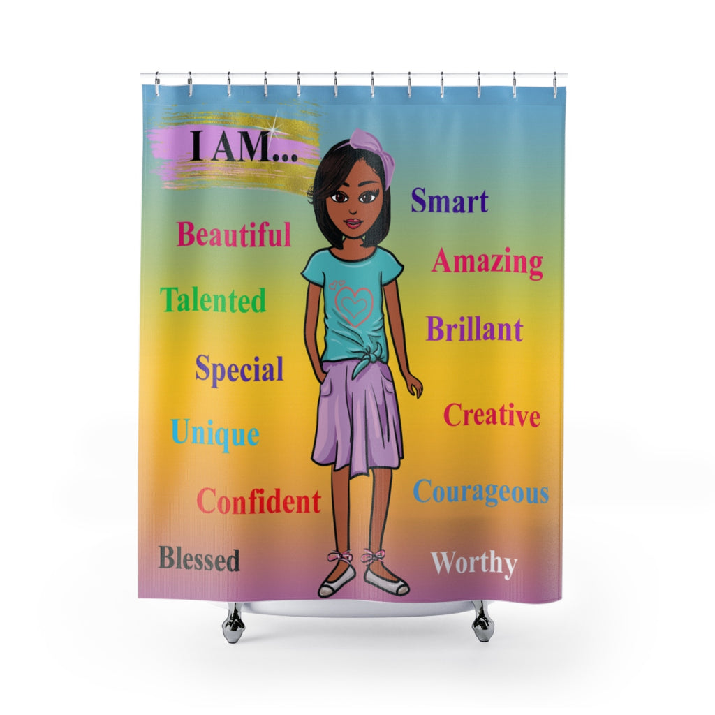 Positive Girl-Purple Shower Curtain