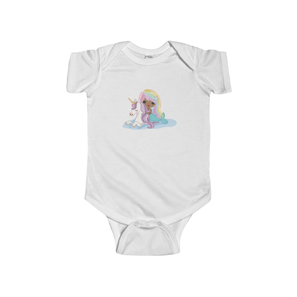 Unicorn Mermaid Infant Fine Jersey Bodysuit