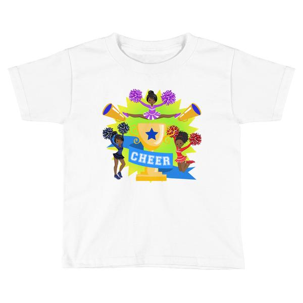 African American Cheerleader Graphic T-shirt
