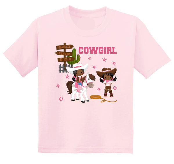 African American Cowgirl Graphic T-shirt